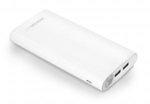Acumulator extern Powerbank High Power cu indicator pentru nivelul de incarcare, lanterna led si putere la indemana de 17400 mAh 2 iesiri USB 2.00
