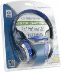 Casti stereo EH145  Blue de inalta calitate, cu control al volumului pe fir1