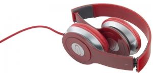 Casti stereo TECHNO RED de inalta calitate, PLIABILE, reglabile, cu control al volumului pe fir, perne moi de inalta calitate rezistenta indelungata impact si frecare2