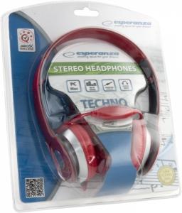 Casti stereo TECHNO RED de inalta calitate, PLIABILE, reglabile, cu control al volumului pe fir, perne moi de inalta calitate rezistenta indelungata impact si frecare1