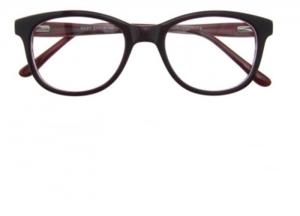 Rame de ochelari, model de dama, design modern, culoare - visiniu, include toc si laveta [0]