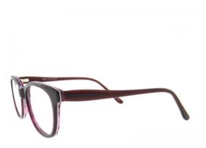 Rame de ochelari, model de dama, design modern, culoare - visiniu, include toc si laveta [1]