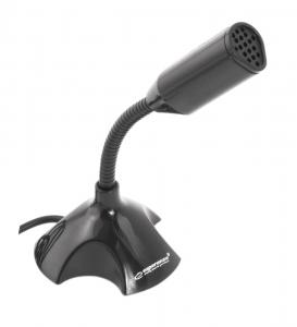 Microfon pentru PC si laptop cu USB, lungime cablu 1m, negru0
