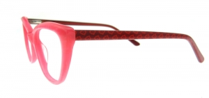 Rame de ochelari, model de dama, design modern, culoare - roz, include toc si laveta1