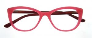 Rame de ochelari, model de dama, design modern, culoare - roz, include toc si laveta0