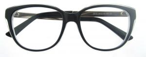 Rame de ochelari, model de dama, design modern, negru cu detaliu auriu, include toc si laveta [0]