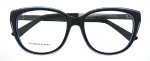 Rame de ochelari, model de dama, design modern, negru cu albastru, include toc si laveta [0]