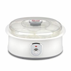 Aparat pentru preparat iaurt cu 7 borcane de sticla x 180ml cu capac, 20w, alb Girmi Italia1