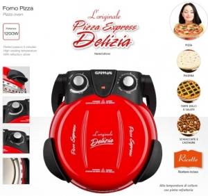 Cuptor pizza G3Ferrari Delizia special cu suprafata de coacere din piatra refractara, termoregulator pana la 390° C si timer cu atentionare sonora2