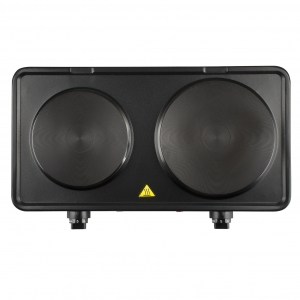 Plita electrica Girmi - PE36 neagra cu 2 ochiuri, control separat, 2500W, fonta neaderenta, picioare anti-alunecare0