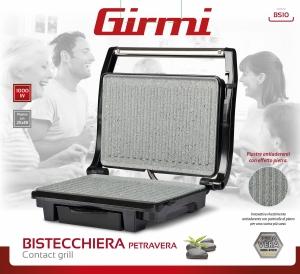 Gratar electric Girmi - BS10 corp din otel inoxidabil, tehnologie Petravera, putere 1000W4