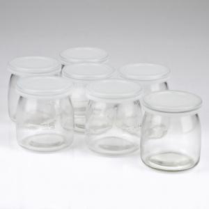 Aparat pentru preparat iaurt cu 7 borcane de sticla x 180ml cu capac, 20w, alb Girmi Italia3