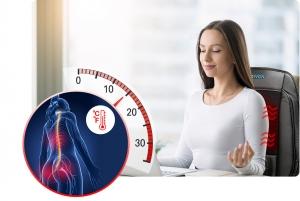 Saltea de masaj cu vibratii, optiuni incalzire  ventilatie si racire utilizare casa  masina  birou control usor prin telecomanda0