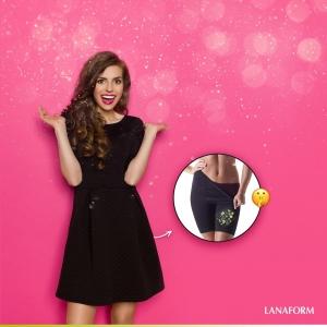 Colanti pentru slabire Secret Slim negru elastic, marime XL4