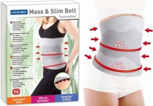Centura pentru slabit Mass & Slim turmalina, efect in combaterea celulitei si reducerea dimensiunii taliei, elastica, gri, M [2]