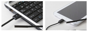 Camera cu endoscop video 6 LED-uri, conectivitate android si PC, multiple accesorii incluse, lungime cablu 5m, rezistenta la apa IP676