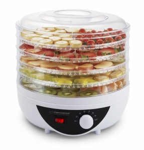 Deshidrator fructe, legume si ciuperci fara conservanti  sau alte ingrediente, 5 tavi, 8 programe, protectie la supraincalzire, picioruse reglabile1