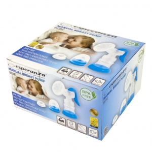 Pompa de san manuala foarte silentioasa si confortabila, include sticla de 150 ml, BPA free1