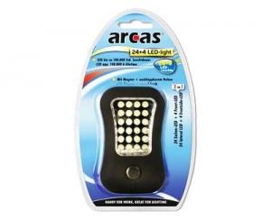 Lanterna de lucru cu LED 24+4, cu magnet puternic si carlig, Arcas0