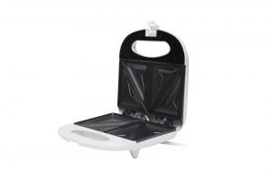 Sandwich Maker alb 750 W, placi neaderente, termostat, LED, carcasa neincalzita [1]