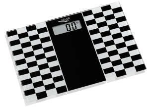Cantar electronic de persoane, 4 senzori precisi, ecran LCD, sticla securizata, alb-negru, 150 kg max, oprire automata2
