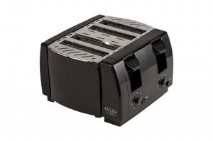Prajitor de paine 4 felii, 7 grade de prajire 1300W, oprire automata, functie stop, negru0