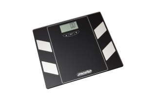 Cantar electronic de persoane, masurare indice grasime, masa musculara, osoasa, ecran LCD, sticla securizata, negru,150 kg max, oprire automata2