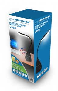 Boxa Charm cu lampa LED si Bluetooth, aux in, distanta 10m, acumulator Li-poly: 1200mAh, negru [3]