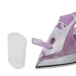 Set fier de calcat si aspirator scame, talpa ceramica , 2400W, abur reglabil, auto-curatare, anti-calcar, anti-picurare, calcare verticala, roz4