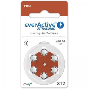 Baterii auditive A312 everactive zinc air, 1.45V, Hg 0%, blister de 6 bucati1