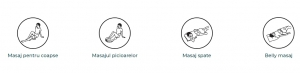 Guler multifunctional masaj Taiko CF-1007, multiple moduri de masaj si intensitati, 40 x 31,5 x 16 cm, bej [4]