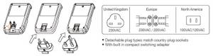 Incarcator baterii cu adaptor  European,  USA si UK  Englezesc, 4 acumulatori inclusi AA 2500 mAh,  incarca 4 acumulatori AA sau AAA, [1]