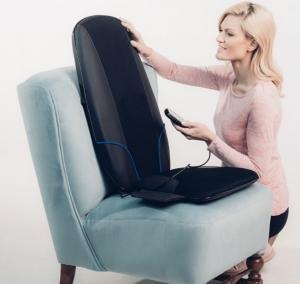 Saltea masaj Shiatsu cu incalzire si rotatii, acoperire 3 zone corporale, 3 trepte viteza, 10 programe, timer integrat, actionare usoara cu telecomanda2