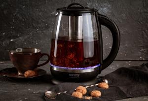 Cana electrica cu reglare temperatura 60-100 ° C si filtru ceai Camry 2l10