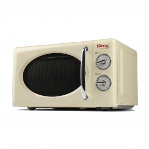 Cuptor cu microunde Girmi retro vintage, 20l, 700W, timer, grill, cream1
