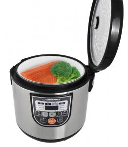 Multicooker din inox cuva 5L, panou comanda digitala smart cu 11 functii presetate sau programabile2