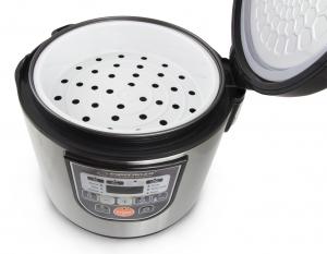Multicooker din inox cuva 5L, panou comanda digitala smart cu 11 functii presetate sau programabile3