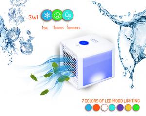 Racitor aer 3 in 1 cu racire, purificare si umidificare, lumina LED 7 culori, silentios, alimentare USB [7]