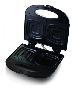 Sandwich Maker Pizzaiola 700 W, placi neaderente, indicator LED culoare negru0