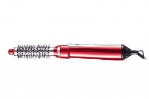 Perie electrica cu 2 capete interschimbabile, 3 setari temperatura, 550W, rosie3
