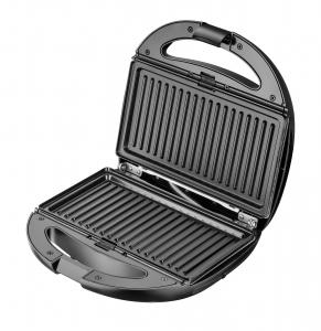 Sandwich maker 5 in 1 cu functie grill, 2 tipuri sandwich, vafe si preparare nuci, protectie supraincalzire [1]