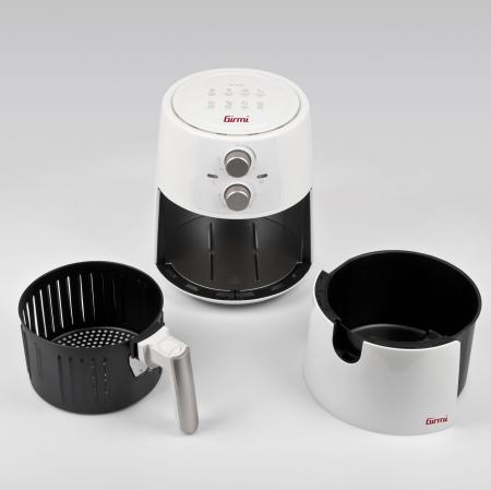 Friteuza cu aer cald fara ulei Girmi FG94 capacitate 3.5L, timer, termostat reglabil 80-200 grade, alb [1]