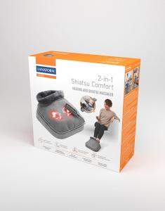 Aparat de masaj 2 in 1 Shiatsu Comfort si incalzire, 4 capete rotative, directie de rotatie dubla, 2 niveluri incalzire si vibratii, functie oprire automata12