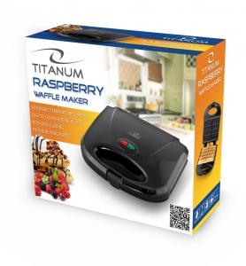 Aparat de preparat vafe Raspberry cu maner si carcasa termoizolante, usor de curatat, picioare antiderapante1