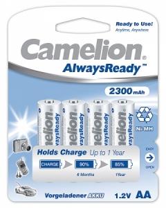 Acumulatori  R06, 2300 mAh, blister de 4 buc , Always Ready, Gata Incarcati Brand Camelion  fara efect de memorie la incarcare0