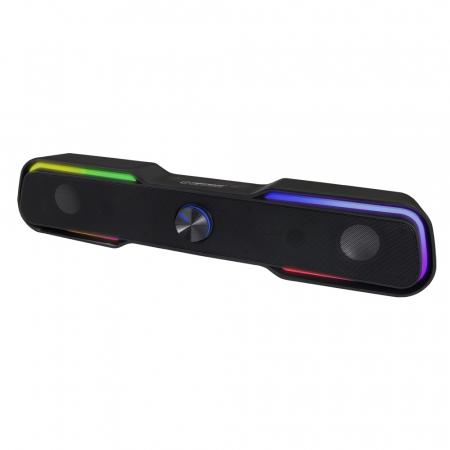 Boxa soundbar MEGS101 6W cu LED, USB, jack 3.5 utilizare PC/Laptop [0]