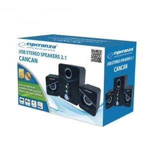 Boxe 2.1 Cancan cu USB si jack 3.5 mm, cablu 1.2 m, control volum0