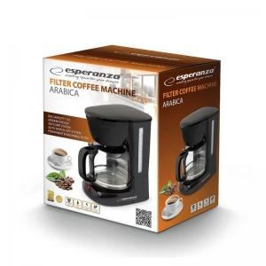 Cafetiera, filtru de cafea negru, capacitate 1.8l, sistem anti-picurare1