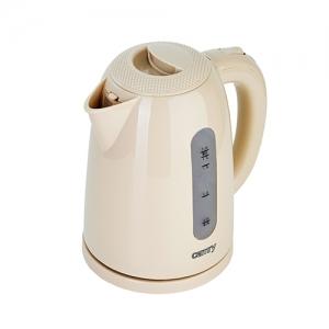 Cana fierbator 2200W, 1.7L , oprire automata, protectie supraincalzire, rotatie 360 culoare crem cafea cu lapte1