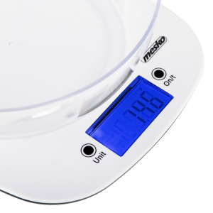 Cantar electronic de bucatarie cu bol 1.4l MEMS3165 cantarire maxima 5 kg precizie 1g functie tare si zero [1]